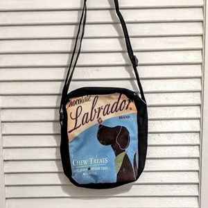 Small Zippered Chocolate Labrador Bag NWOT